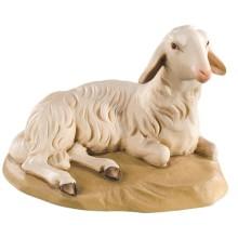 Statuina in legno presepe: Pecora sdraiata