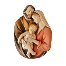 Bassorilievo in legno - Sacra Famiglia